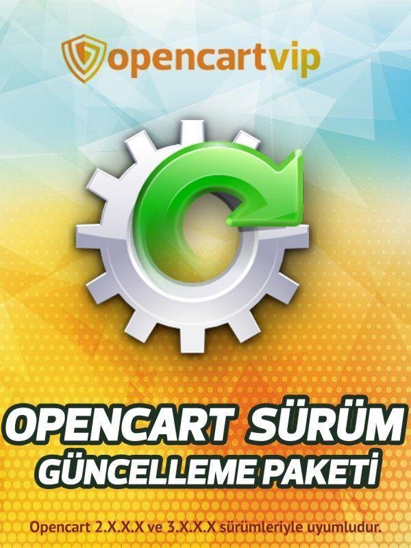 Opencart Sürüm Güncelleme Yükseltme Paketi