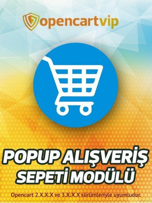 Popup Alışveriş Sepeti Modülü