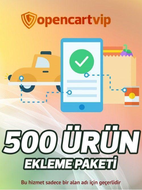 500 Ürün Ekleme Paketi