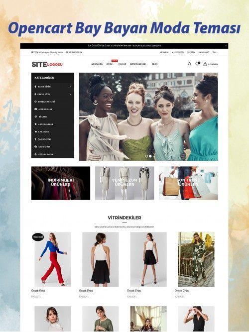 Opencart Bay Bayan Moda Teması