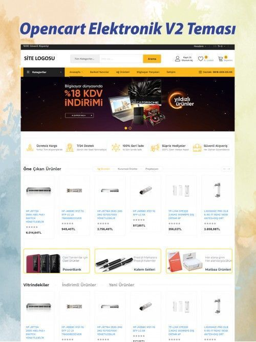 Opencart Elektronik Teması