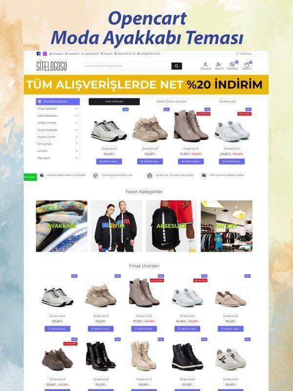 Opencart Moda Ayakkabı Teması