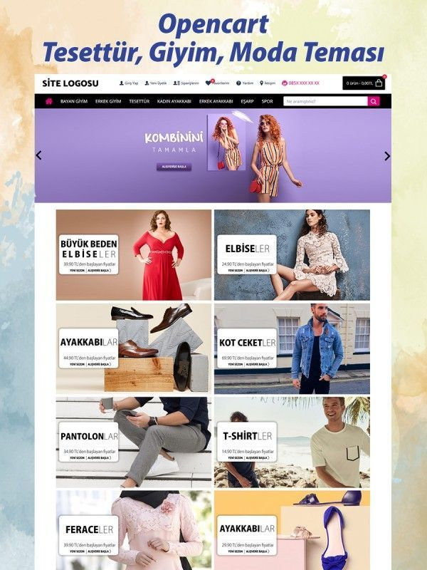 Opencart Tesettür ve Giyim Teması