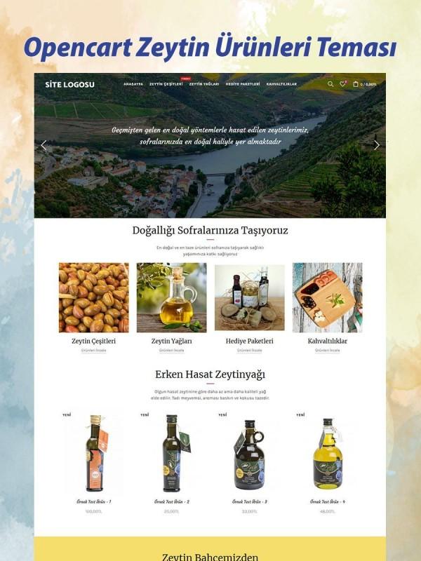 Opencart Zeytin Ürünleri Teması